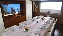Yacht ANNAMIA -  Formal Dining.