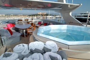 Yacht ANNAMIA -  Sundeck Spa Pool