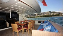 Yacht ANNE MARIE -  Aft Deck Dining