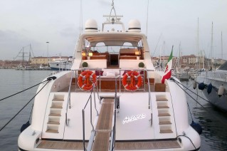 Yacht ANTARES K -  Aft View