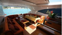 Yacht ASPRA 38 -  Main Salon looking Aft