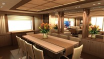 Yacht Alia Main Decik Dining Area - Image credit to Guido de Groot Design