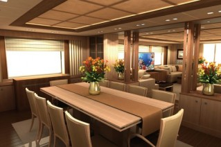 Yacht Alia Main Decik Dining Area - Image credit to Guido de Groot Design .png