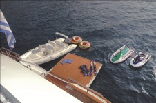 Yacht BELLA STELLA -  Tender and toys from swim platform