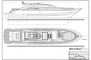Yacht BLUE FORCE ONE -  Deck Plan