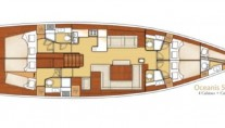Yacht BLUE PASSION -   Layout