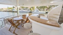 Yacht Bella Mare -  Aft Deck and Wet Bar