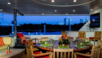 Yacht CHASING DAYLIGHT -  Aft Deck Dining