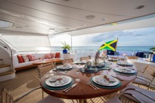 Yacht Camarina Royale -  Bridge Deck Dining