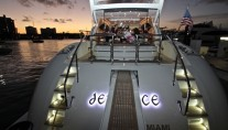 Yacht DEFIANCE -    Aft View at Night