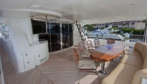 Yacht DREAM -  Aft Deck Dining