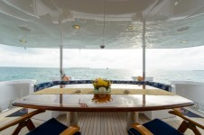 Yacht EASY RIDER - Aft Deck Dining