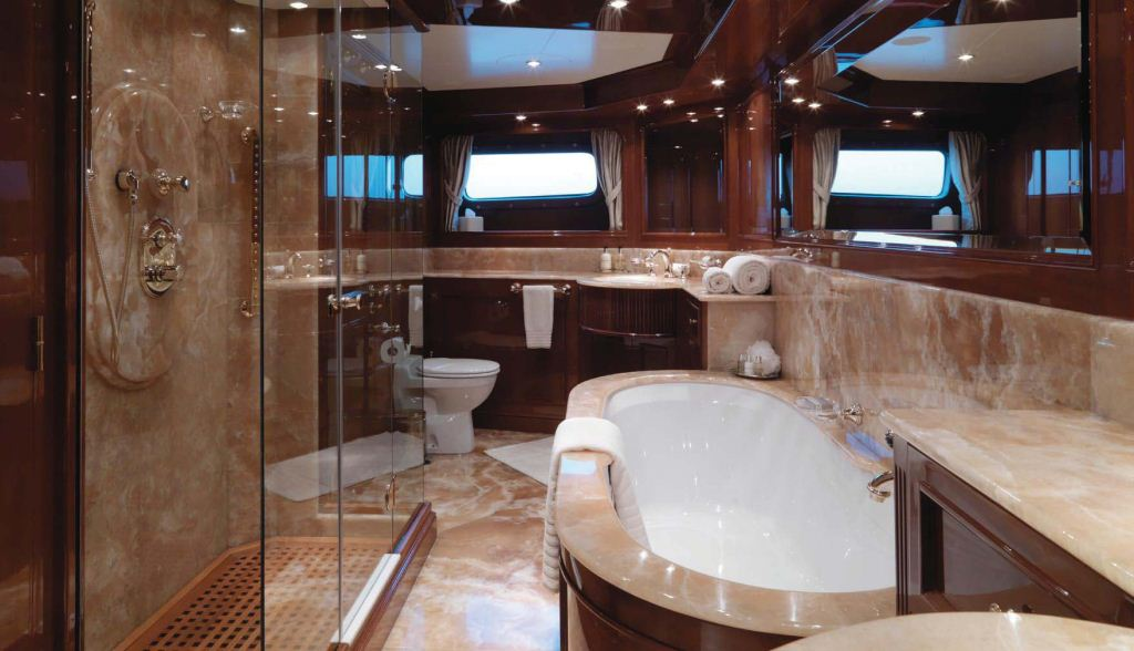 yacht enchantress master bathroom