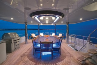 Yacht EXCELLENCE -  Upper Aft Deck Dining