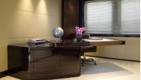 Yacht Eminence Office -Interior by Reymond Langton Design