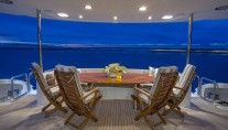 Yacht GALE WINDS - Aft deck