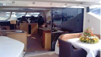 Yacht GIGIOLE -  Salon and Al fresco Dining area