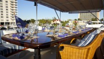 Yacht Georgiana - Al Fresco Dining