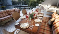 Yacht INDEPENDENCE 2 -  Aft Deck Al Fresco Dining