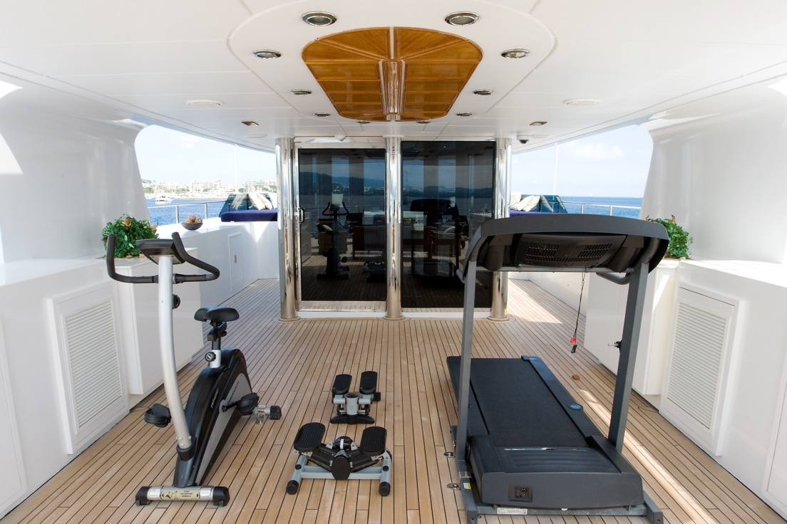Yacht insignia gym luxury yacht browser by for Insignia interior design decoration