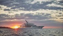Yacht JOY with Ocean Sunset - Copyright Feadship
