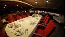 Yacht JUNIOR ORCUN -  Aft Deck Dining
