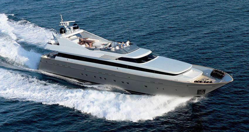 Greece kintaro yacht charter details luxury mediterranean for Motor boat rental greece