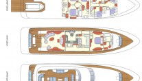 Yacht LA MASCARADE -  Layout