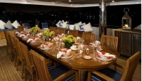 Yacht LADY JOY -  Bridge Deck Al Fresco Dining