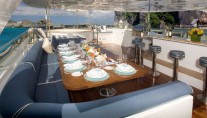 Yacht LADY JOY -  Sun Deck Dining