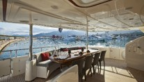 Yacht LADY MARIA -  Aft Deck Dining