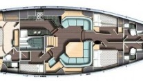 Yacht LADY MARIPOSA -  Layout