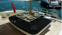 Yacht LAST CHANCE -  Aft Deck Dining
