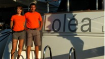 Yacht LOLEA -  Crew on Swimplatform