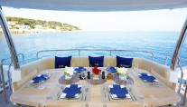 Yacht Live the Moment - Aft deck dining