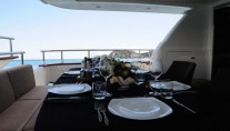 Yacht MALO -  Aft Deck Dining
