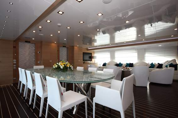 Yacht MAR - Upper Saloon Dining