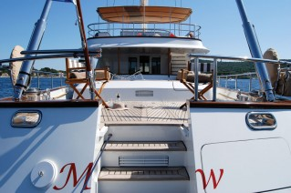 Yacht MARFLOW - Aft View