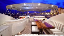 Yacht MAYAMA -  Flybridge at Night