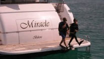 Yacht MIRACLE - Swim Platform Diving