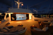 Yacht MIRAGE -  Top Deck at night watching Movies