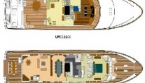 Yacht MONTE CARLO -  Deck Plan and Layout