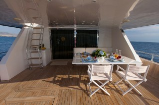 Yacht MY WAY - Aft Deck