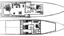Yacht NEVER SAY NEVER -  Layout