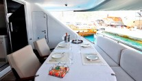 Yacht OBSESSIONS -  Aft Deck Dining