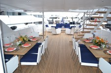 Yacht OCTOPUSSY - Aft Deck Dining