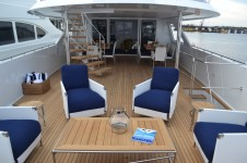 Yacht OCTOPUSSY - Aft Deck