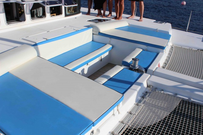 Yacht OMBRE BLU - Foredeck cockpit