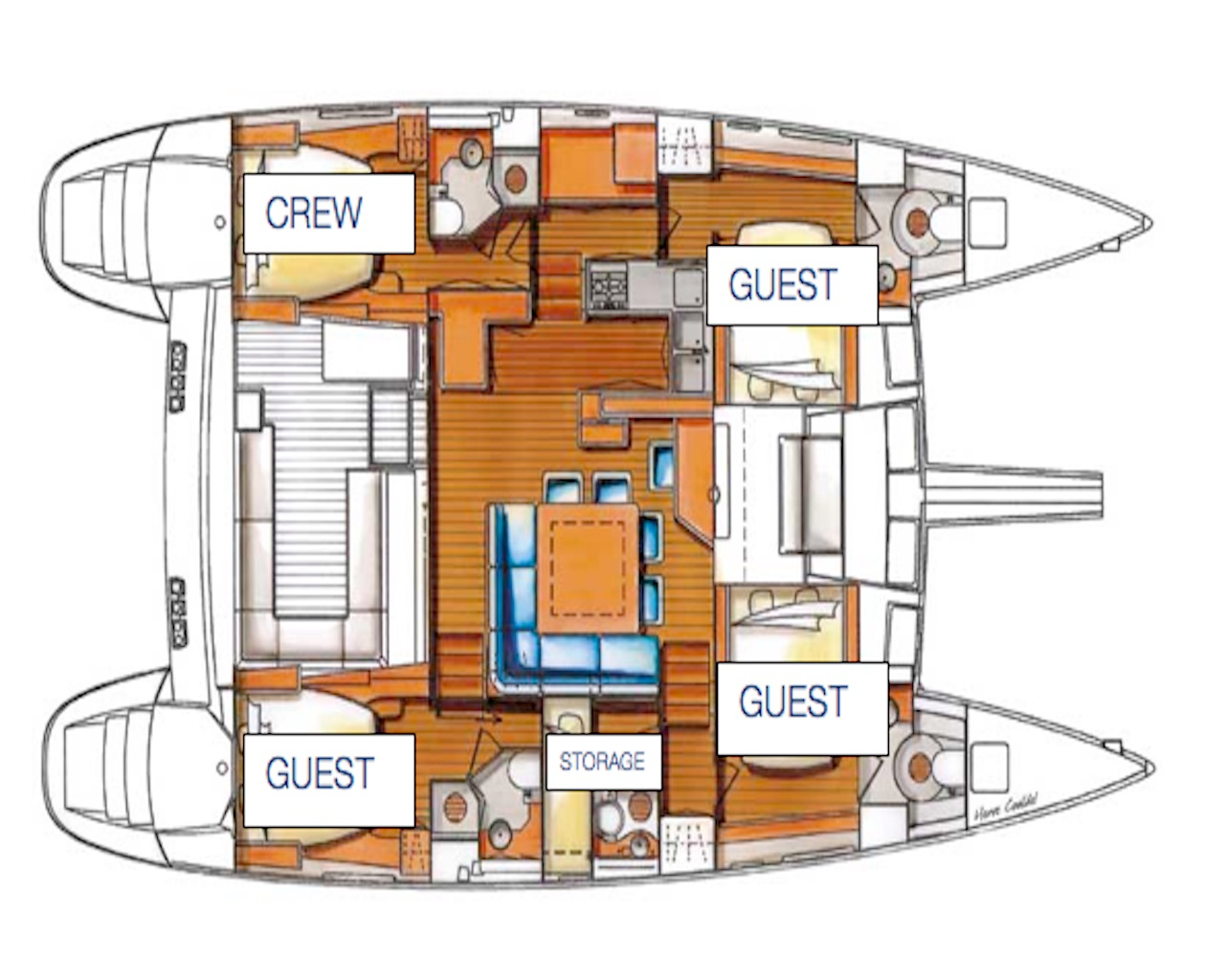 Yacht OMBRE BLU - Layout