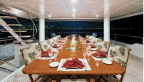 Yacht ONE MORE TOY -  Upper Deck Dining